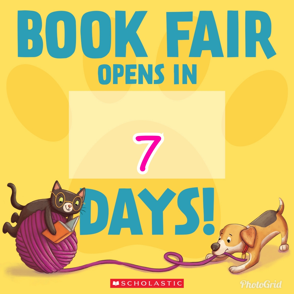 Mark your calendars! The book fair starts in 7 days!