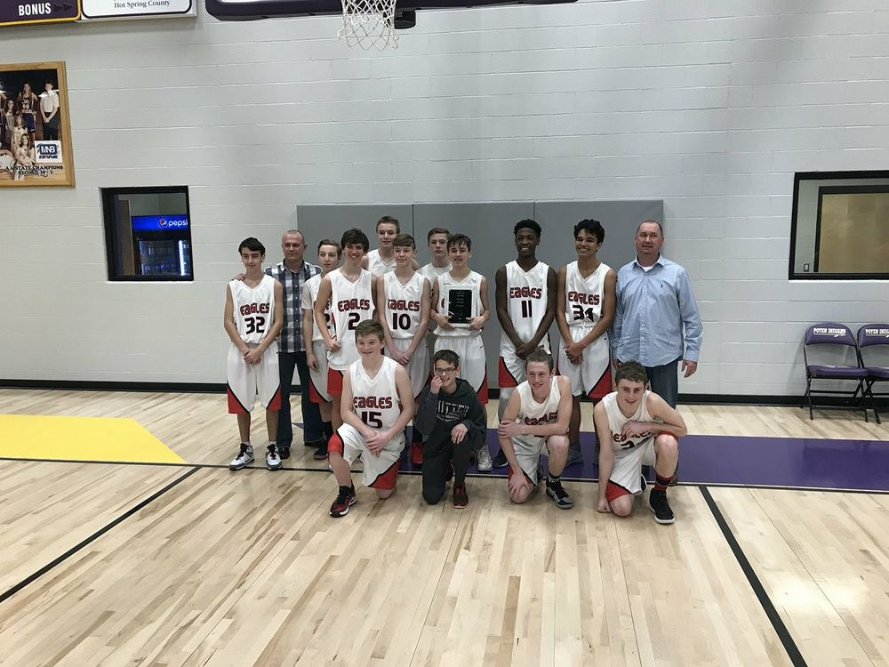 Congratulations to the Jr. High Boys Basketball team as they are Conference Champions.