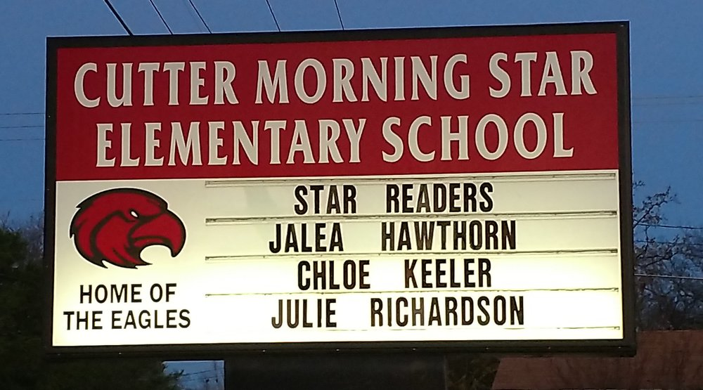 Congratulations to our Star Readers! Jalea Hawthorn has reached her Star Reader goal of 300 AR points. Chloe Keeler and Julie Richardson have reached their goal of 125 AR points.
