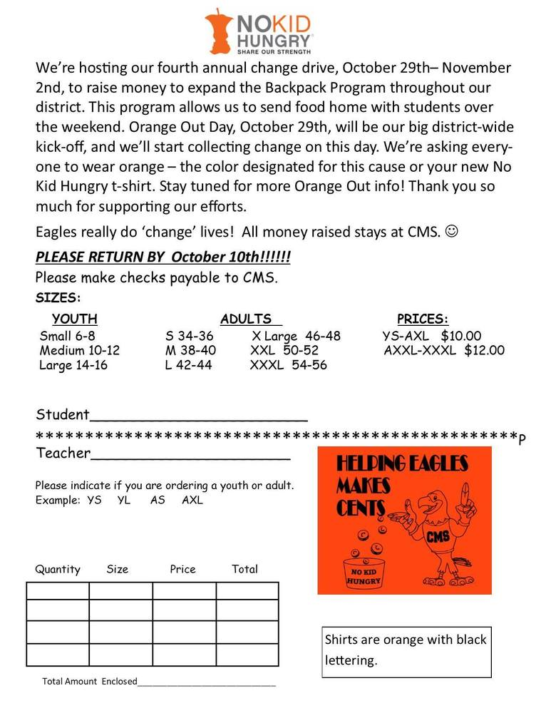 Get your Orange Week Shirts Now!! The Deadline is October 10th.