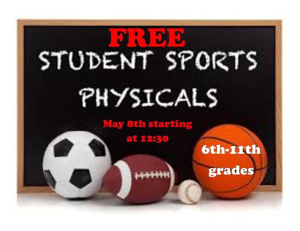 REMINDER: Free Student Sports Physicals