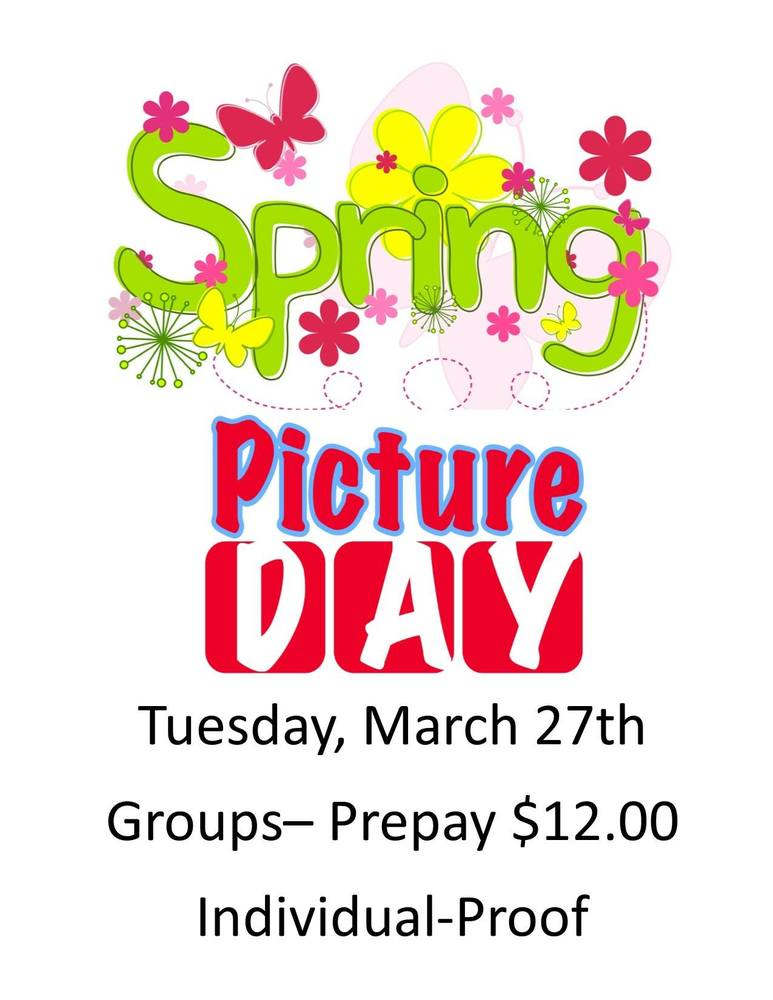 Spring Pictures are today!