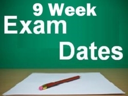 Third Nine Weeks Testing Schedule