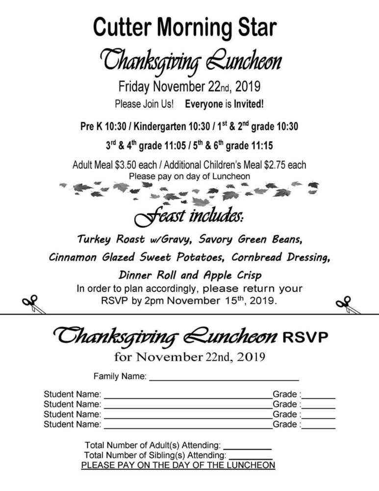 Join us for our Thanksgiving Feast!