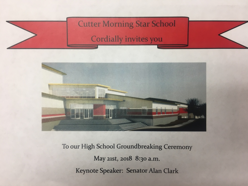 Reminder: Join us for the High School Groundbreaking Ceremony tomorrow at 8:30 a.m.