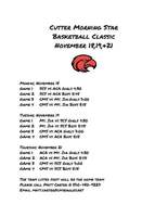 CMS Classic Basketball Schedule