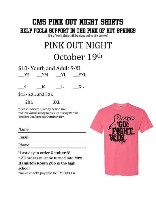 Get your PINK OUT shirt here!!!