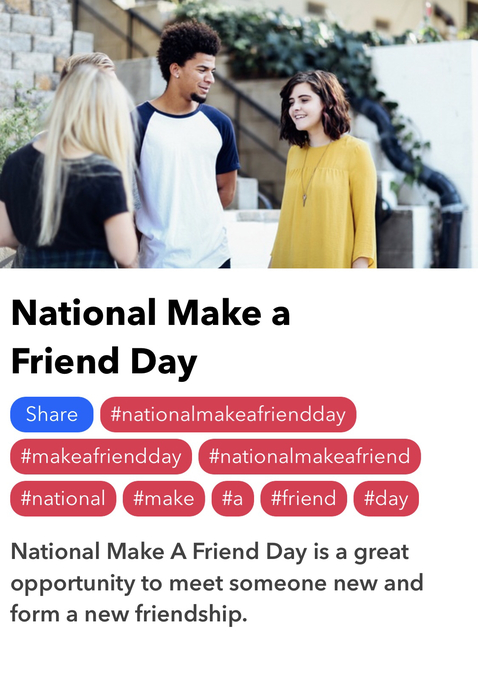 Make a friend day
