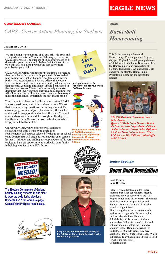 Page 2 of HS Newsletter